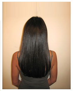 Long Hair Bra Strap And Mid Back Length