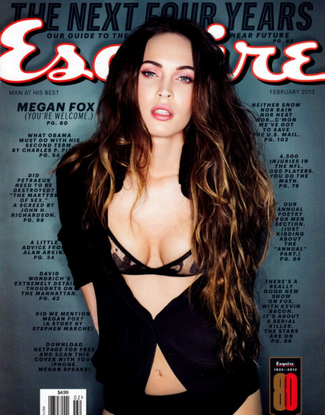 Megan Fox photographed by Sante D'Orazio poses for Esquire US  magazine February 2013